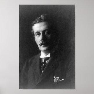 Retrato de Giacomo Puccini Póster