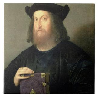 Retrato de Gian Giorgio Trissino (1478-1550) (acei Azulejo Cuadrado Grande