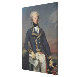 Retrato de Gilbert Motier como teniente Impresión En Lona Estirada