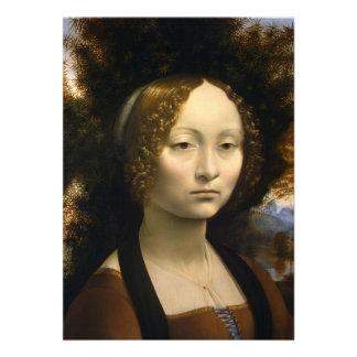Retrato de Ginevra de Benci de Leonardo da Vinci Comunicados