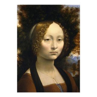 Retrato de Ginevra de Benci de Leonardo da Vinci Anuncios