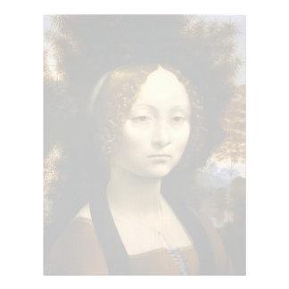 Retrato de Ginevra de Benci de Leonardo da Vinci Membrete