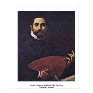 Retrato de Giovanni Gabrieli con el laúd Tarjeta Postal