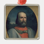 Retrato de Giuseppe Garibaldi 2 Adorno Navideño Cuadrado De Metal