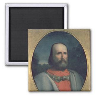 Retrato de Giuseppe Garibaldi 2 Imán Cuadrado