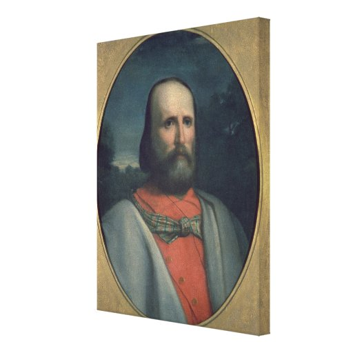 Retrato de Giuseppe Garibaldi 2 Impresión En Lona