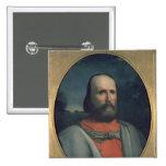 Retrato de Giuseppe Garibaldi 2 Pin Cuadrado