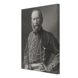 Retrato de Giuseppe Garibaldi Lona Envuelta Para Galerías