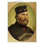 Retrato de Giuseppe Garibaldi Tarjeta De Felicitación