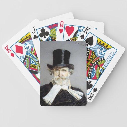Retrato de Giuseppe Verdi de Juan Boldini Baraja Cartas De Poker