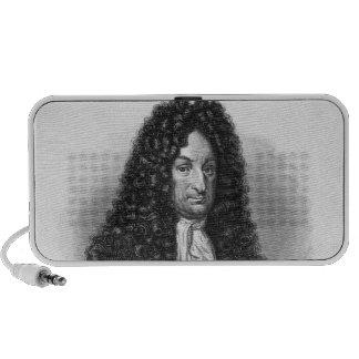 Retrato de Gottfried Wilhelm barón de Leibniz Portátil Altavoces