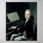 Retrato de Graf Firmian de Carl en el piano Impresiones