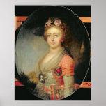 Retrato de grande duquesa Alexandra, c.1798 Posters