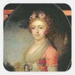 Retrato de grande duquesa Alexandra, c.1798 Colcomanias Cuadradas