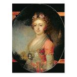 Retrato de grande duquesa Alexandra, c.1798 Postal
