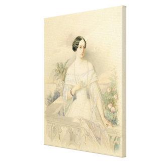 Retrato de grande duquesa Olga Nikolaevna, 1846 Impresion En Lona