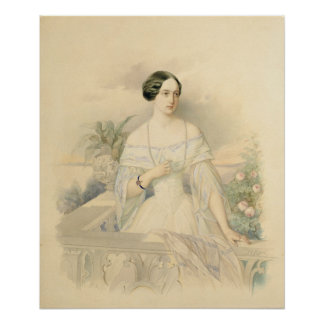 Retrato de grande duquesa Olga Nikolaevna, 1846 Póster