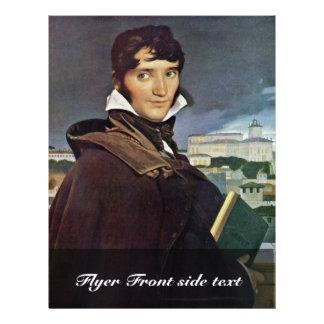 Retrato de Granet de Ingres Jean Auguste Dominiqu Tarjetón