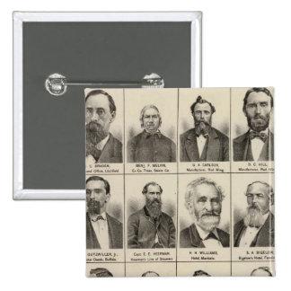 Retrato de Greenleaf, Minnesota Pin Cuadrada 5 Cm