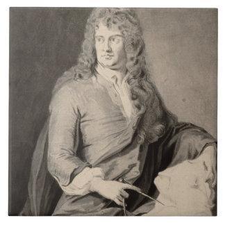 Retrato de Grinling Gibbons (1648-1721) (w/c en p Azulejos