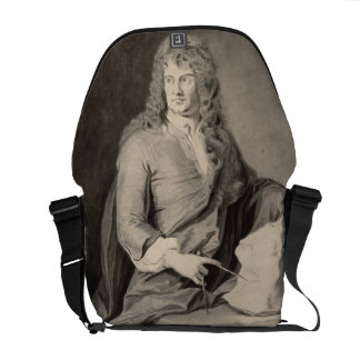 Retrato de Grinling Gibbons (1648-1721) (w/c en p Bolsas Messenger