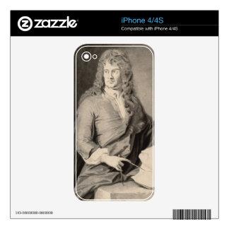 Retrato de Grinling Gibbons (1648-1721) (w/c en p iPhone 4 Calcomanías