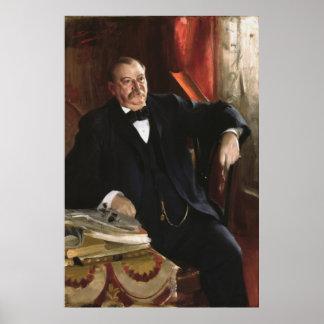 Retrato de GROVER CLEVELAND de Anders Leonard Zorn Impresiones