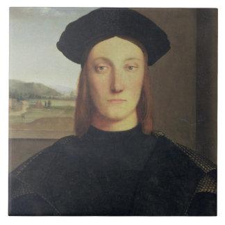 Retrato de Guidobaldo da Montefeltro, duque de Urb Azulejo Cuadrado Grande