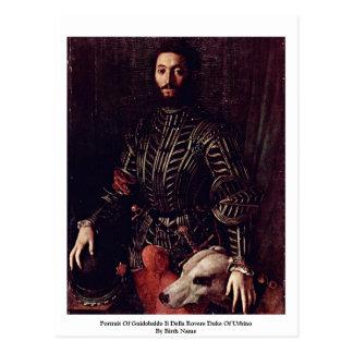 Retrato de Guidobaldo Ii Della Rovere Tarjeta Postal
