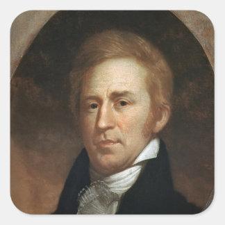 Retrato de Guillermo Clark, c.1807 Calcomanía Cuadradas Personalizada