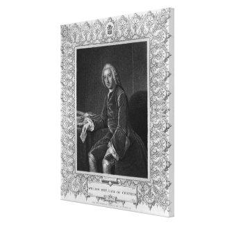 Retrato de Guillermo Pitt, 1r conde de Chatham Impresión En Lienzo