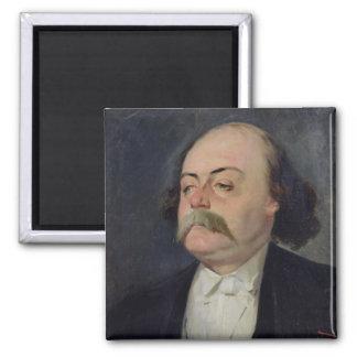 Retrato de Gustave Flaubert 1868-81 Imán Cuadrado