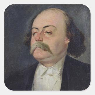 Retrato de Gustave Flaubert 1868-81 Colcomanias Cuadradas