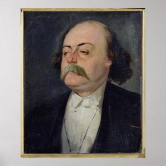 Retrato de Gustave Flaubert 1868-81 Póster