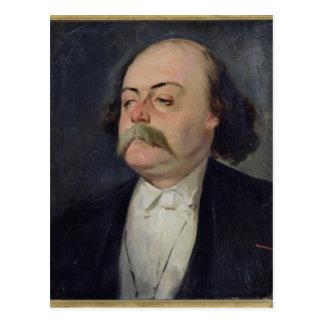 Retrato de Gustave Flaubert 1868-81 Postal