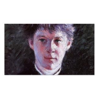 Retrato de Gustavo Caillebotte- de un colegial Tarjetas De Visita