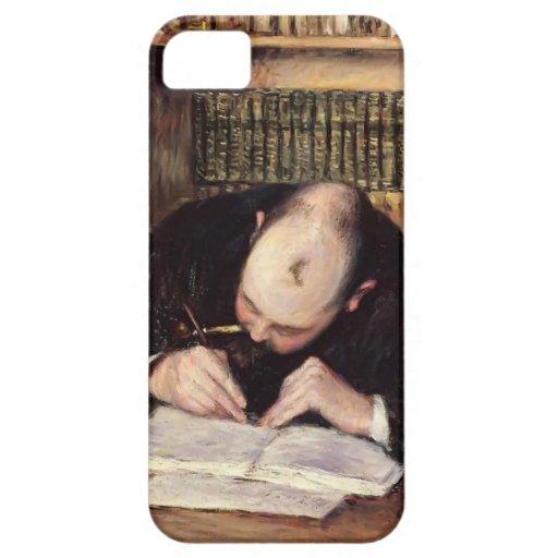 Retrato de Gustavo Caillebotte- de una escritura d iPhone 5 Cárcasa