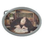 Retrato de Gustavo Caillebotte- de una escritura d Hebilla Cinturon Oval