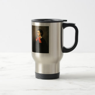 Retrato de Gustavo Courbet- del Mlle. Jacquet Tazas De Café