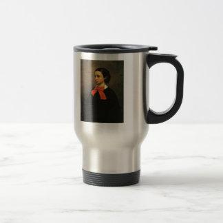 Retrato de Gustavo Courbet- del Mlle. Jacquet Taza De Café