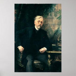 Retrato de Gustavo Eiffel 1905 Póster