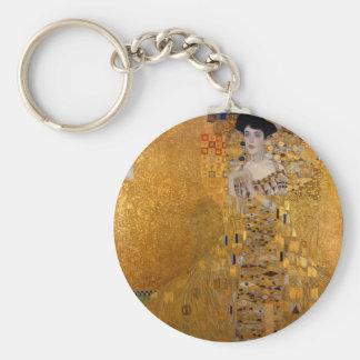 Retrato de Gustavo Klimt //Adela Bloch-Bauer Llavero Redondo Tipo Pin