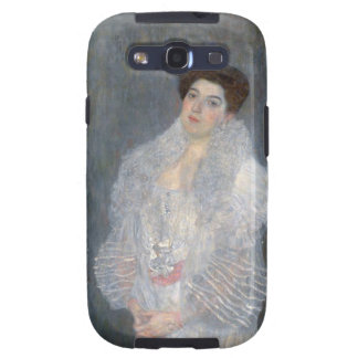 Retrato de Gustavo Klimt de Hermine Gallia Galaxy S3 Carcasas