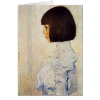 Retrato de Gustavo Klimt de la tarjeta de nota de
