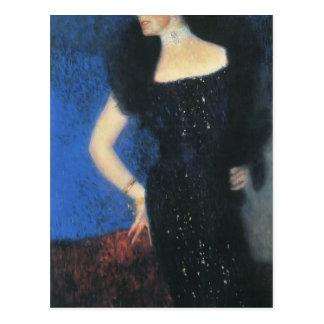 Retrato de Gustavo Klimt- de Rosthorn-Friedmann co Tarjeta Postal