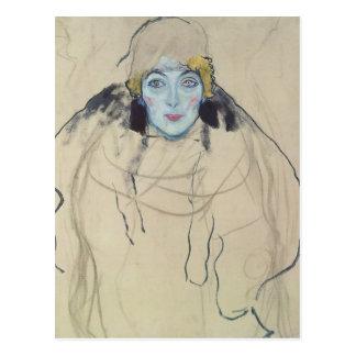 Retrato de Gustavo Klimt- de una señora (inacabada Postales