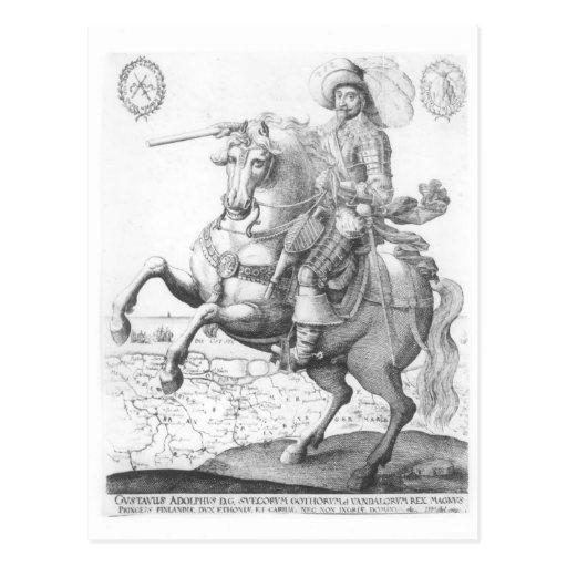 Retrato de Gustavus Adolphus II Tarjeta Postal