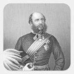 Retrato de H.R.H. El duque de Cambridge Pegatina Cuadradas