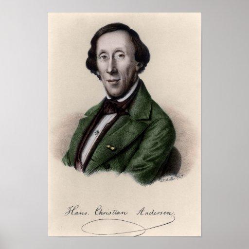 Retrato de Hans Christian Andersen 2 Impresiones
