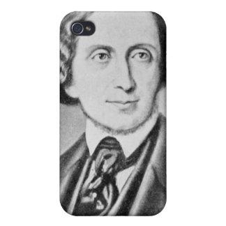Retrato de Hans Christian Andersen 2 iPhone 4 Funda